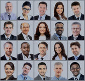 Photo Collection of portraits of business people