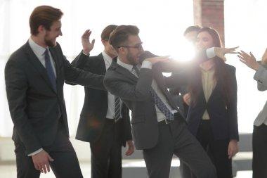 Business people team success celebration concept.