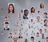 Fotografie velké množství izolované portréty lidí, podnikání