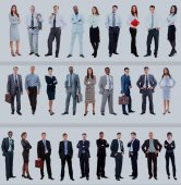 Photo Set of business people isolated on white