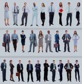 Insieme della gente di affari isolata su bianco