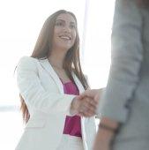 handshake, obchodní žena a klient