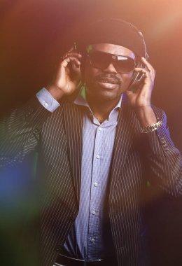 mature black men listen to music