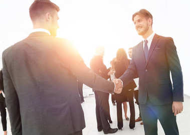 business concept. the handshake business partners