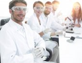 head of the scientific project and research team at the workplac