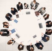 view from the top.meeting of shareholders of the company at the