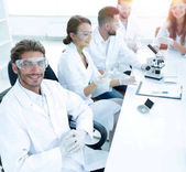 head of the scientific project and research team at the workplace