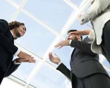 Hands of businessman on business meeting