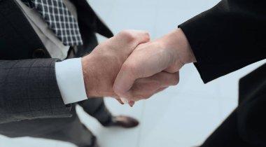 Business handshake ,congratulations or Partnership concept. stock vector