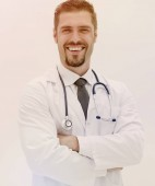 closeup.experienced therapist with a stethoscope