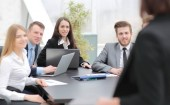 sikeres üzleti csapat a munkahelyen portréja