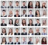 sikeres fiatal üzletemberek portréinak kollázsa