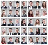 koláž portrétů úspěšných mladých podnikatelů