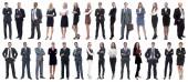 Skupina úspěšných podnikatelů izolované na bílém