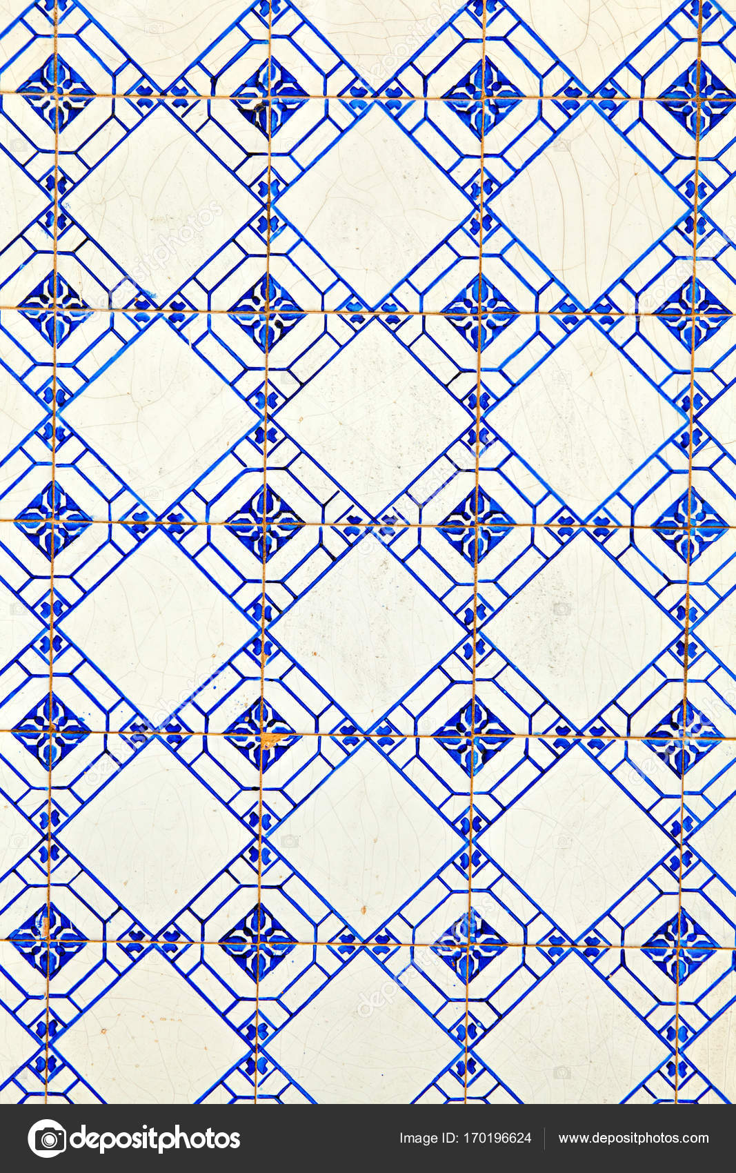 Typical Portuguese decorations with colored ceramic tiles . — Stock ...