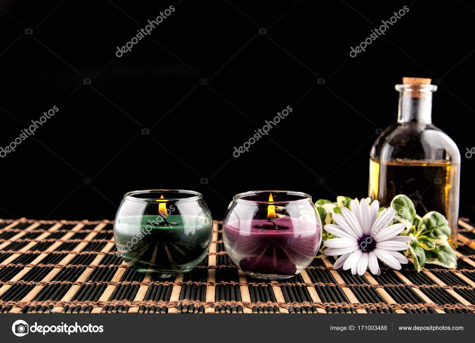 Decoration De Spa pour décoration de spa avec des pierres, marguerites, bougie et une