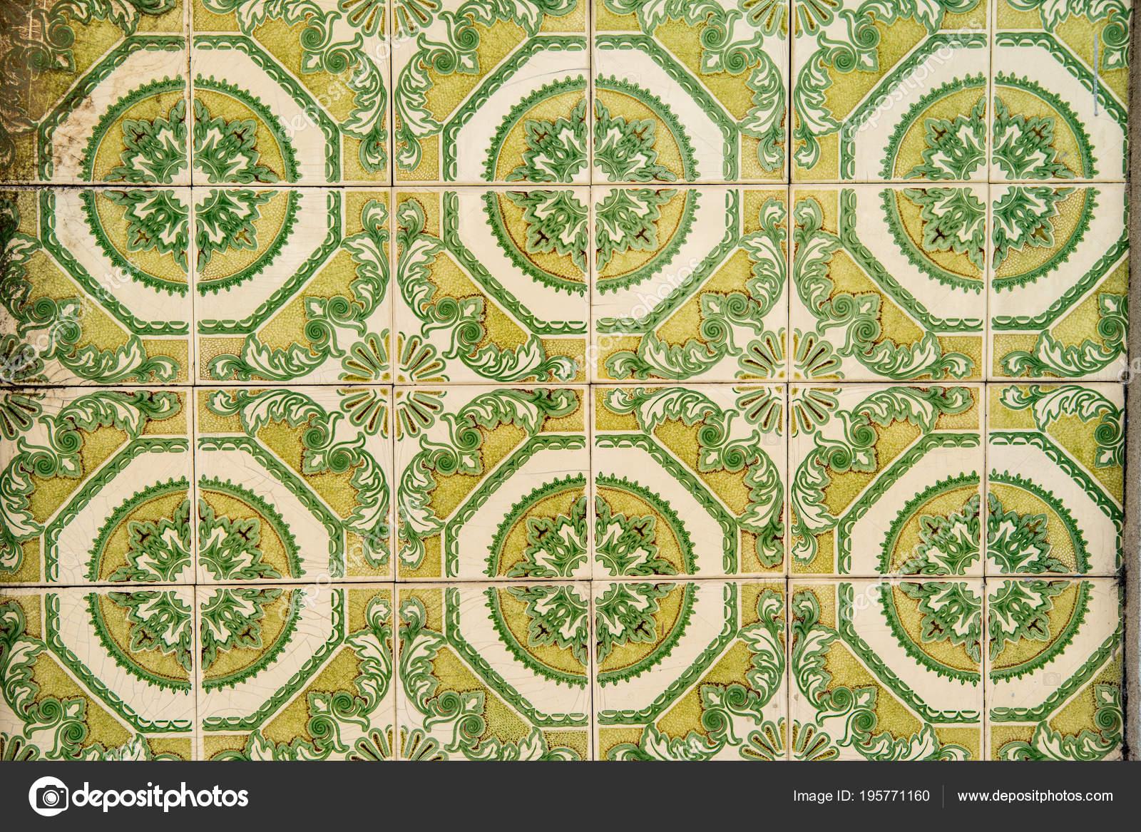 Vintage Ceramic Tiles Wall Decoration Ceramic Tiles Background Stock Photo C Kalnenko 195771160