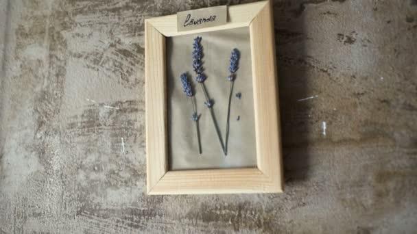 levendula virágok a falon képkeret