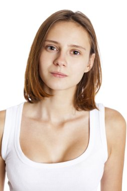 Portrait young beautiful brunette woman