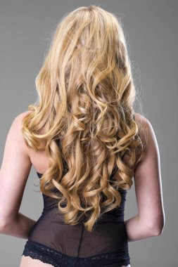Female Long wavy blonde hair