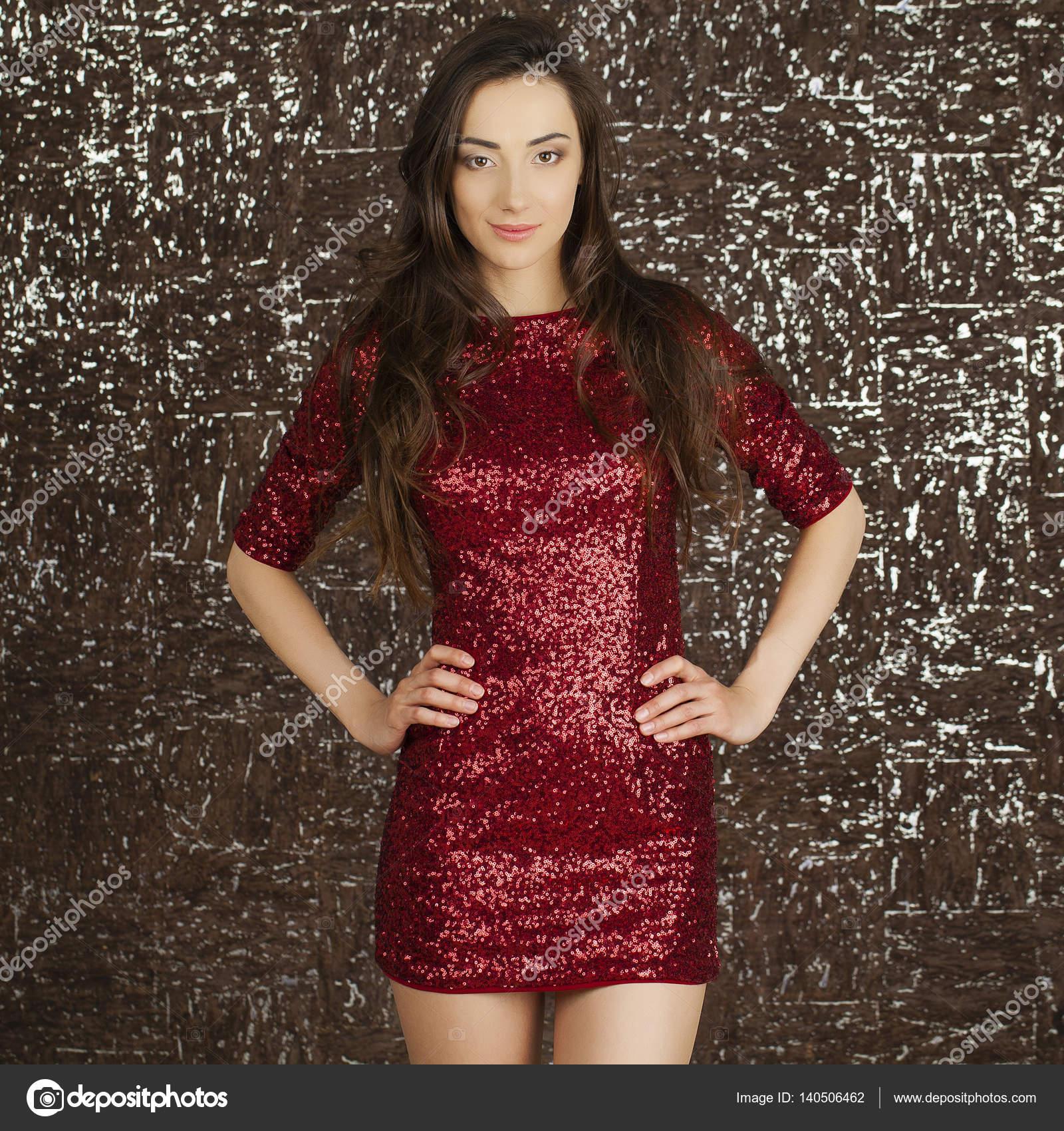 Ledy im roten Kleid — Stockfoto © arkusha #140506462