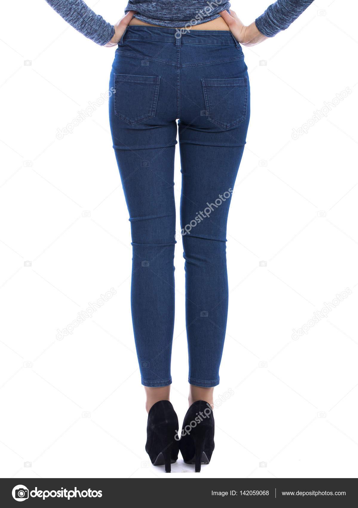 Попки в джинсах в обтяжку фото сзади заигрывают кафе
