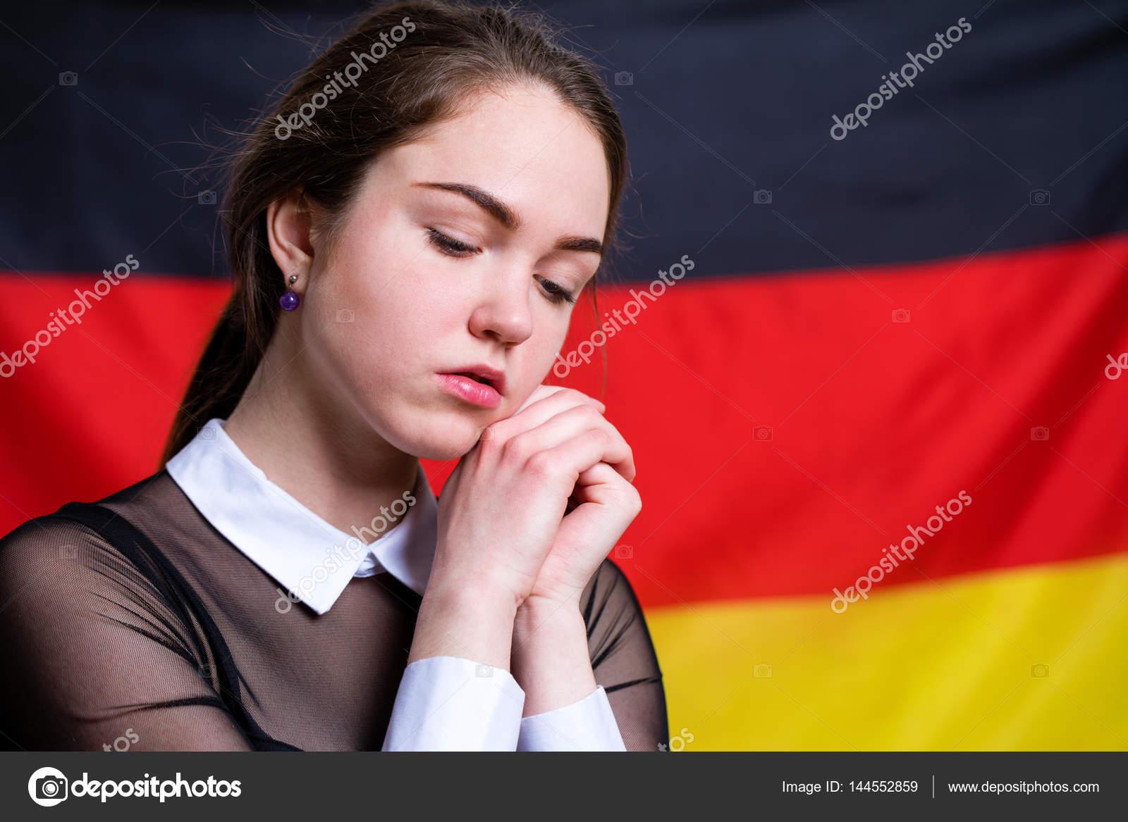 Německá dívka kouření