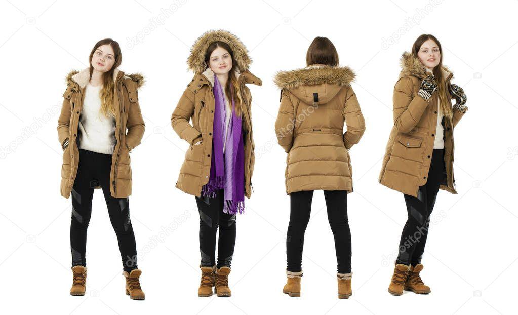 f4289d17963d Ξανθιά γυναίκα φόρεμα φθινόπωρο παλτό