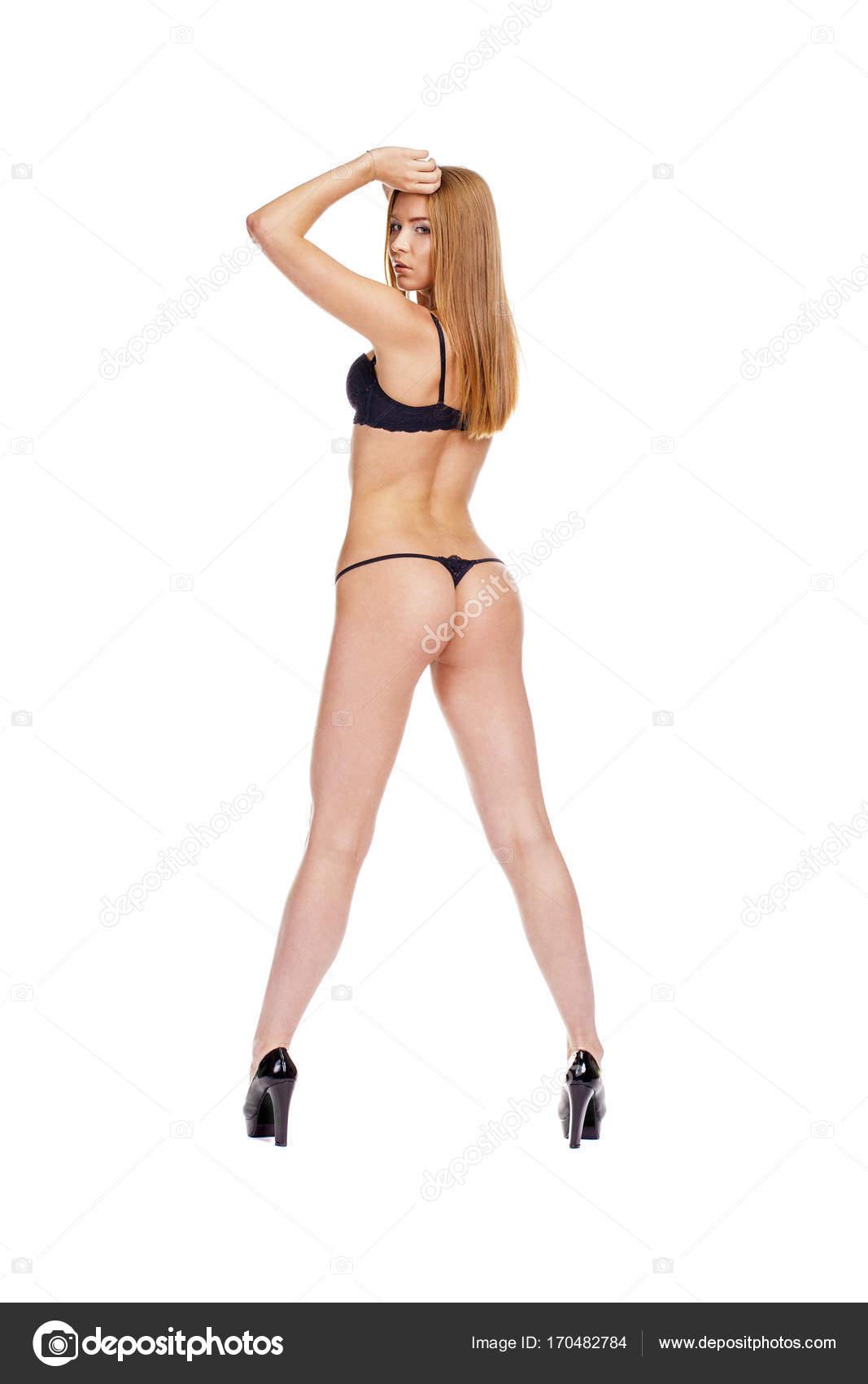 Блондинки в бикини сзади