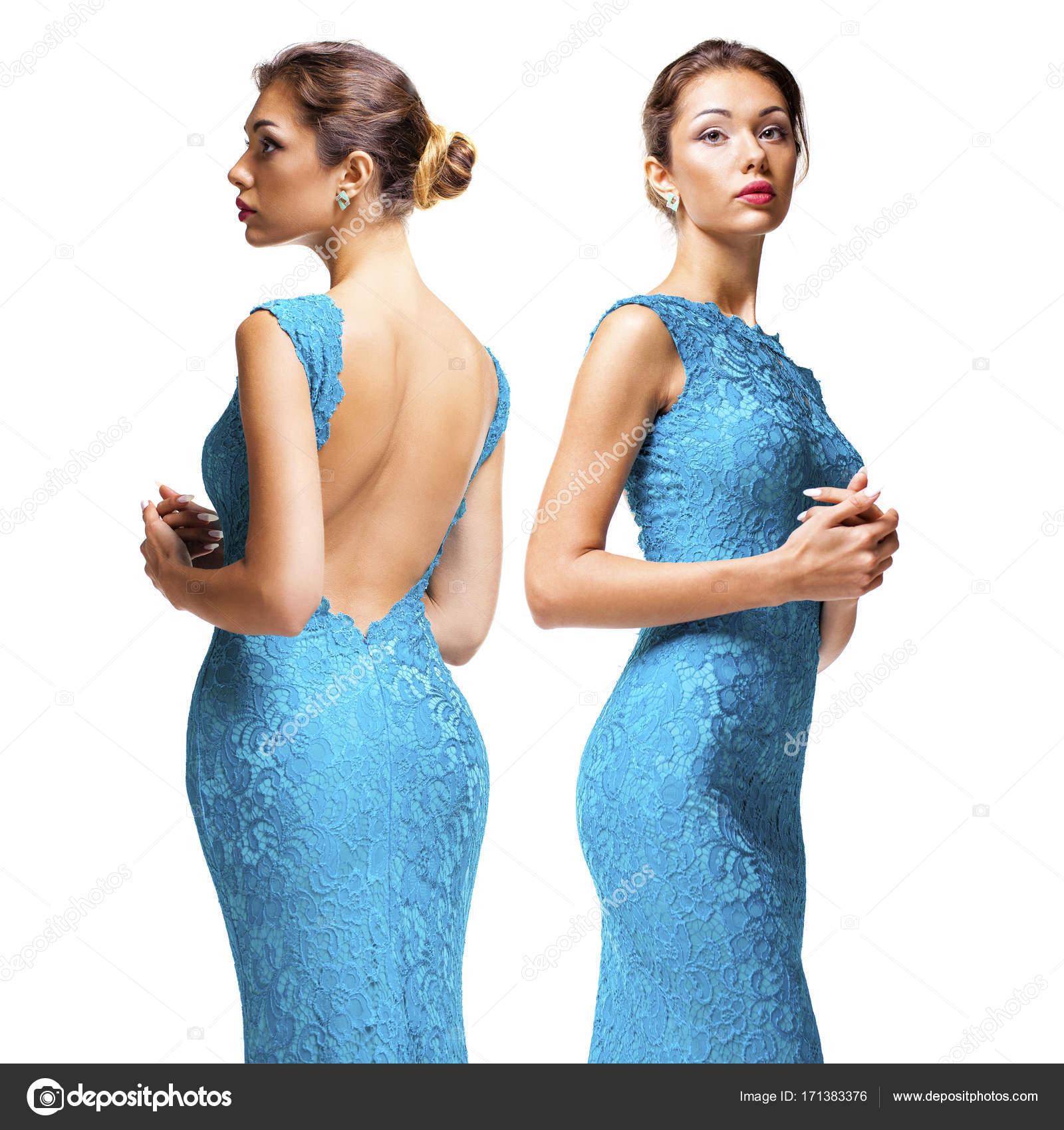 purchase cheap d0a94 79feb Ritratto di una bella giovani donne in vestiti stretti ...