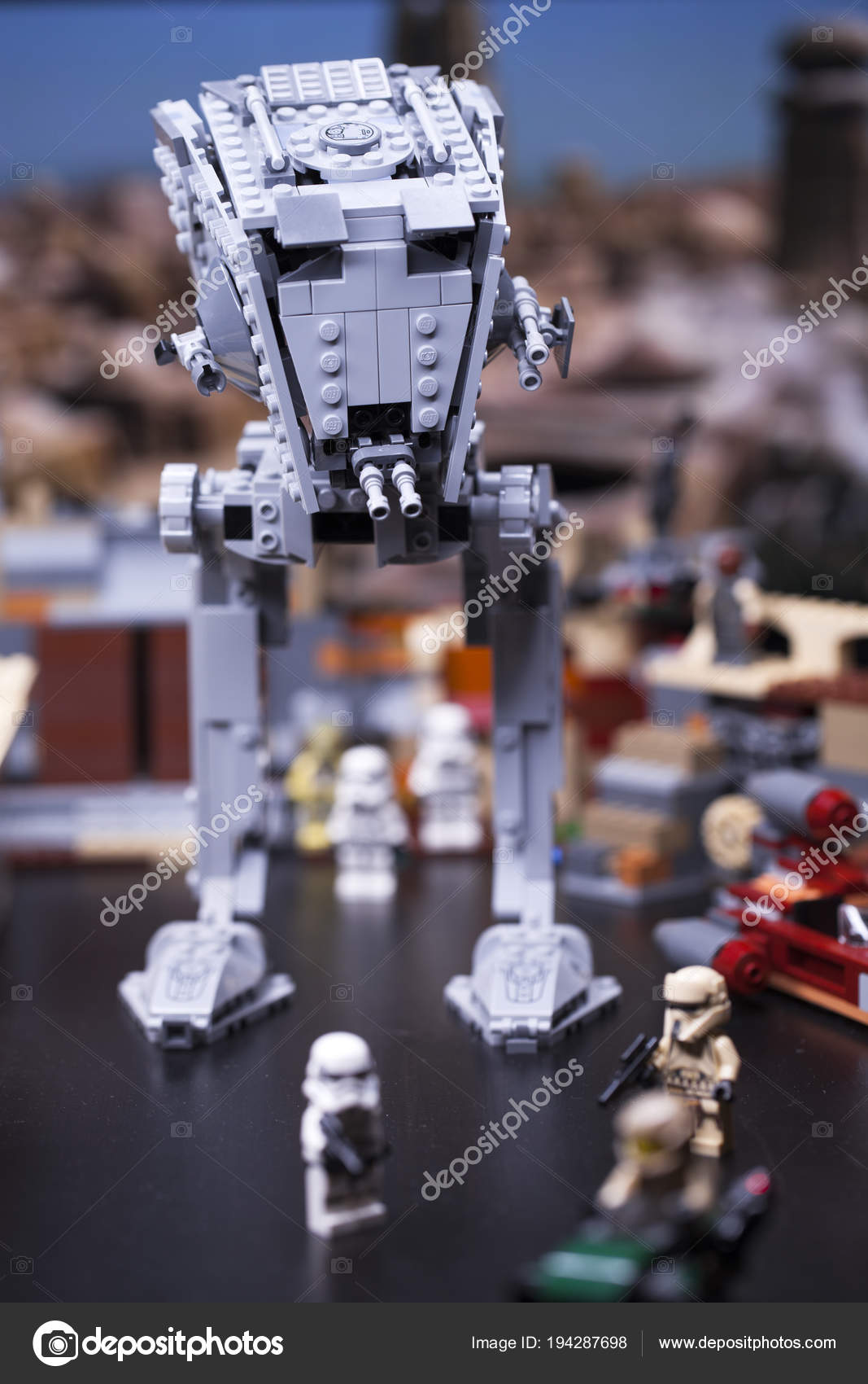 RUSSIA, April 12, 2018  Constructor Lego Star Wars  AT-ST