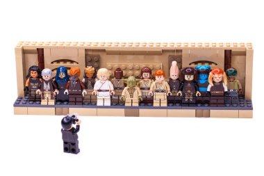 RUSSIA, SAMARA, FEBRUARY 15, 2020 - Lego Star Wars Minifigures Constructor. Jedi, Members of the High Council