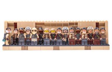 RUSSIA, SAMARA, FEBRUARY 15, 2020 - Lego Star Wars Minifigures rebel squad