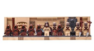 RUSSIA, SAMARA, FEBRUARY 15, 2020 - Lego Minifigures Constructor. Star Wars characters, inhabitants of the planet Tatooine