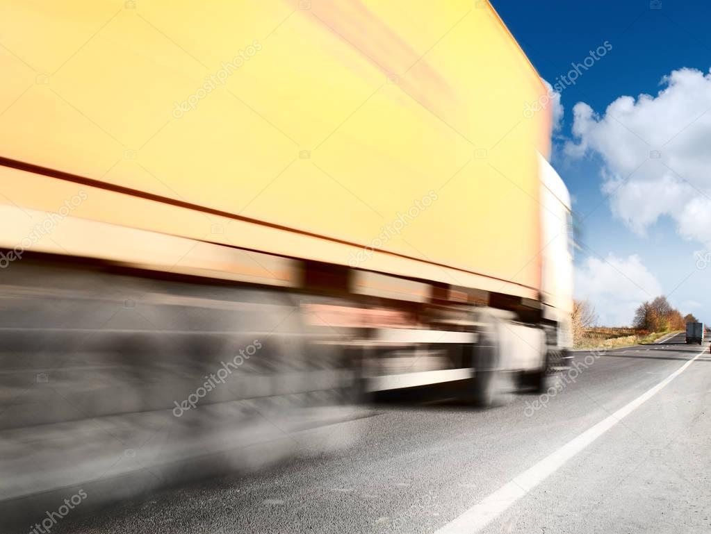 Big truck on road