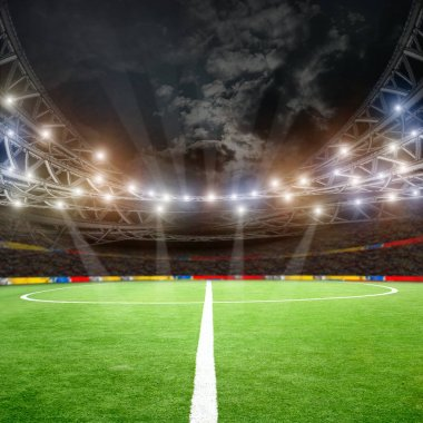 Soccer field and lights