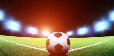 Soccer stadium and ball