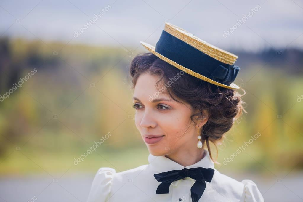 Noblewoman portrait in riding habit
