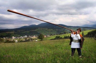 Hutsul music instrument from Trembita