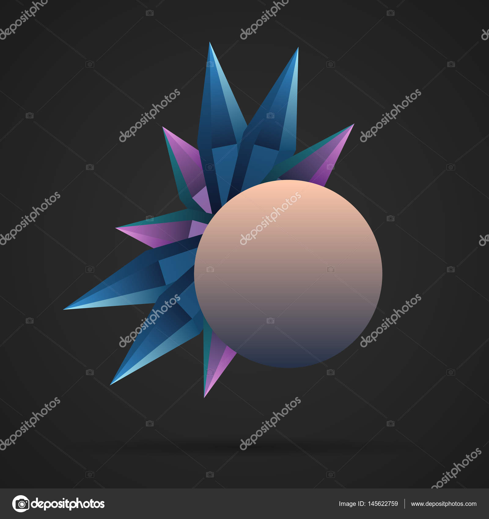 triangle egg stock diamond polygonal color vector image geometric abstract gold background in rose shaped polygon