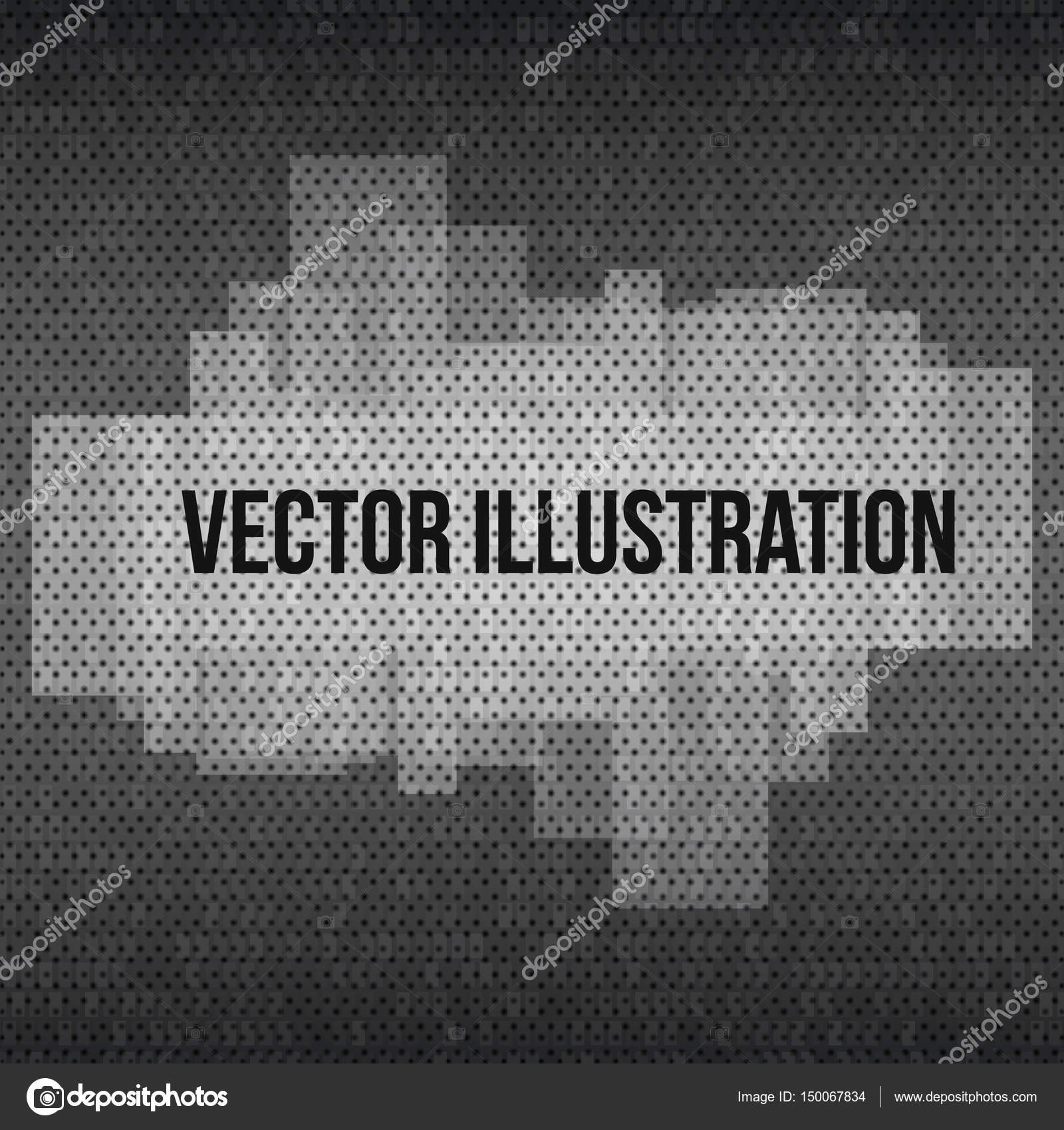 Abstract Banner with transparent Effects on dark techno