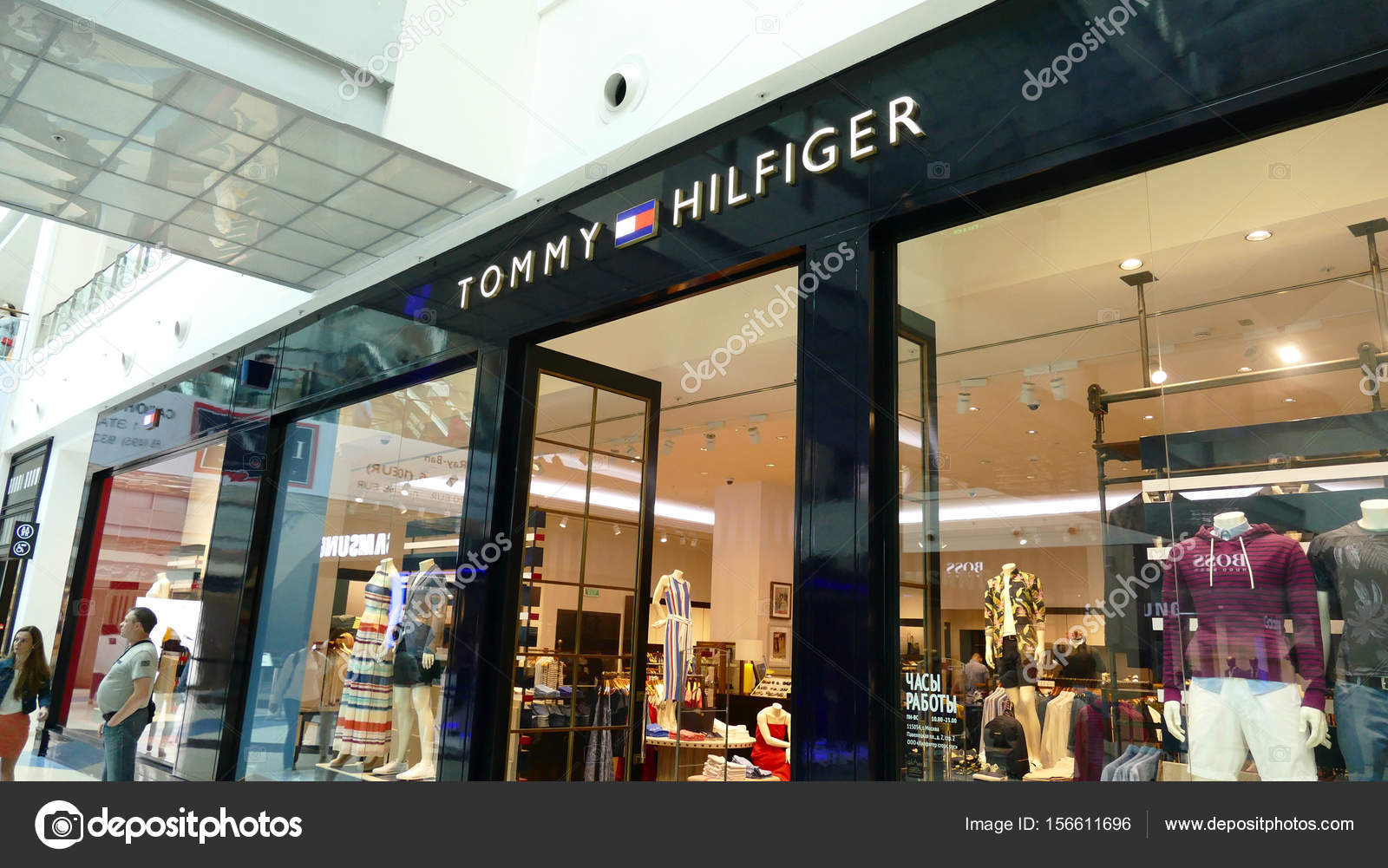 777d24c7 Shop (store - retail) - Tommy Hilfiger in Metropolis mall — Stock Photo