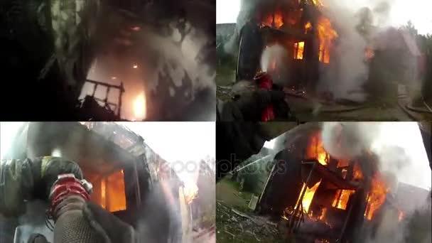 Plamen zaplavovat interiér domova