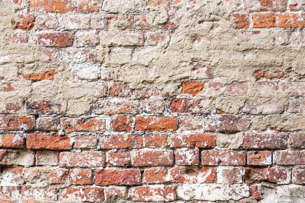 Textura da parede de tijolo r stico antigo pintado com for Papel de pared rustico