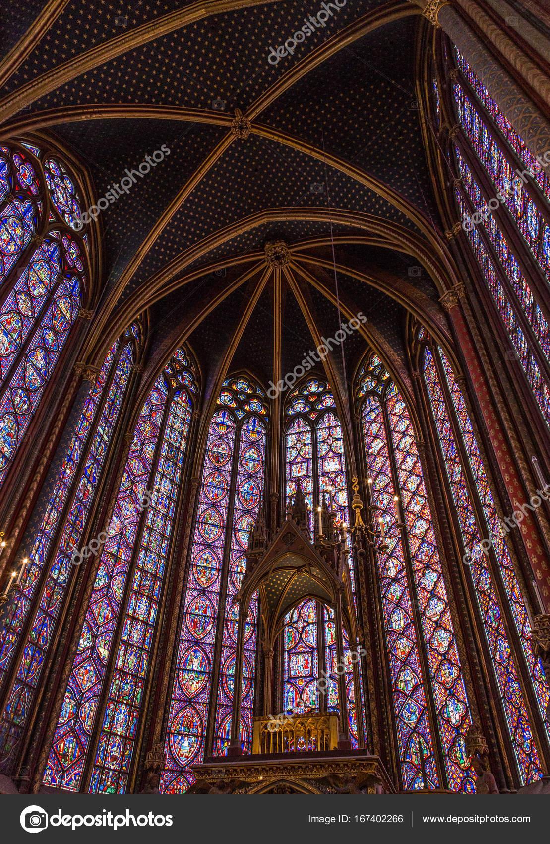 Paris Francia 01 De Abril De 2017 La Sainte Chapelle Santa