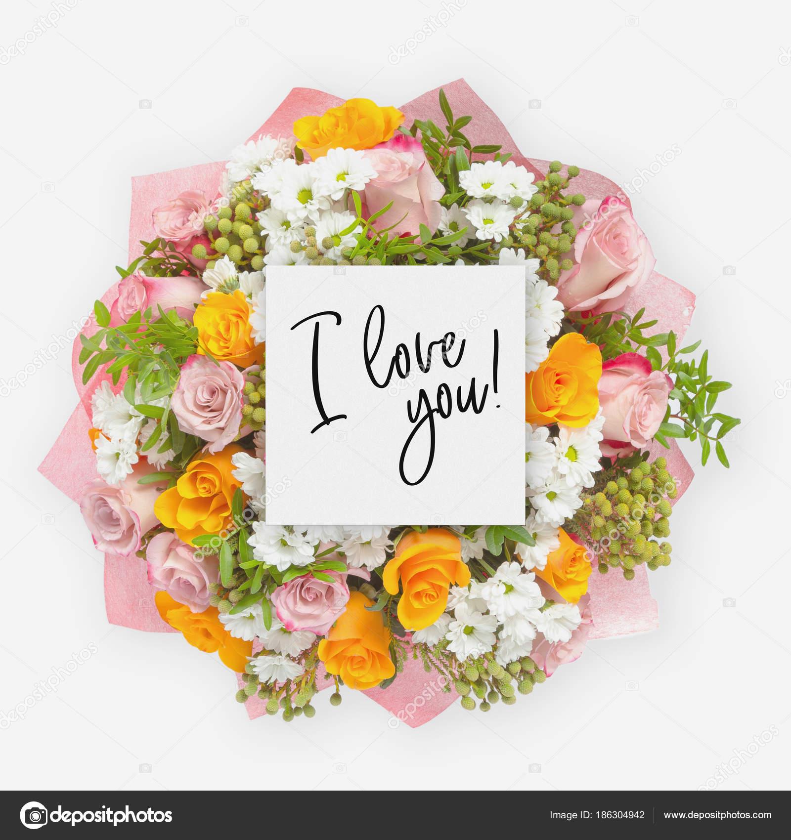 jag älskar dig blommor