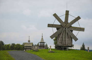 Kizhi Pogost is a historical site on Kizhi island, Russia
