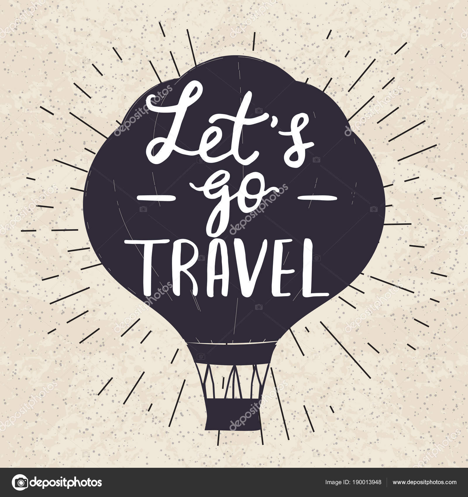 Travel Poster Template With Motivational Quote Stock Vector