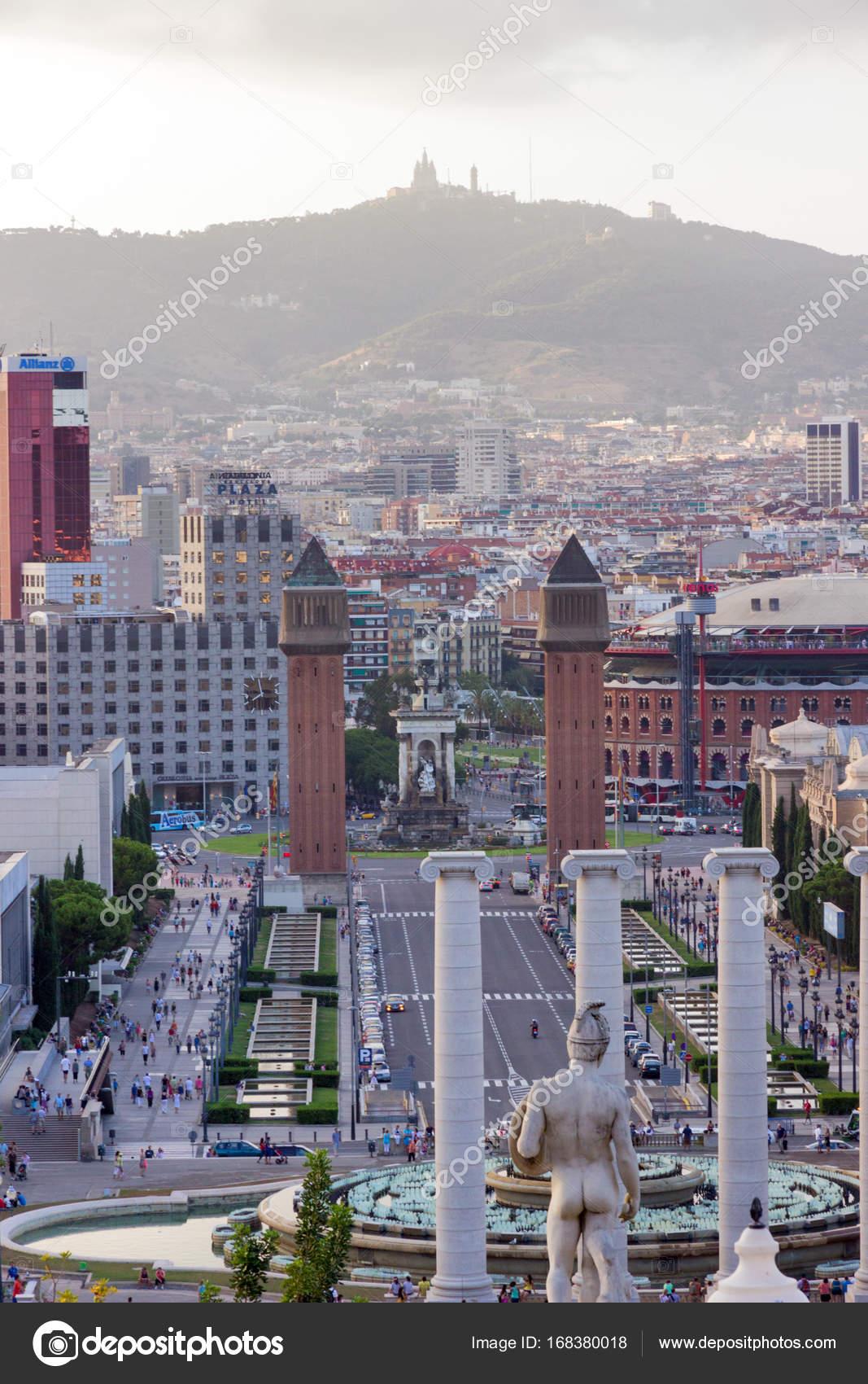 Carte Barcelone Place Despagne.Barcelone Ville Et Plaza Espanya Photo Editoriale C Fotoall 168380018