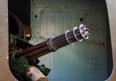 machine gun in the door helicopter